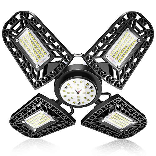 Eclairage de garage LED GRDE UK22-Garagelight-FBA - 6000K, 11200Lm, 216LED (Vendeur tiers)
