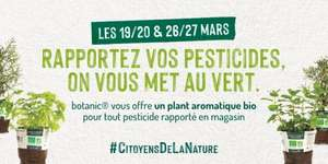 1 Plant aromatique bio offert en rapportant vos pesticides