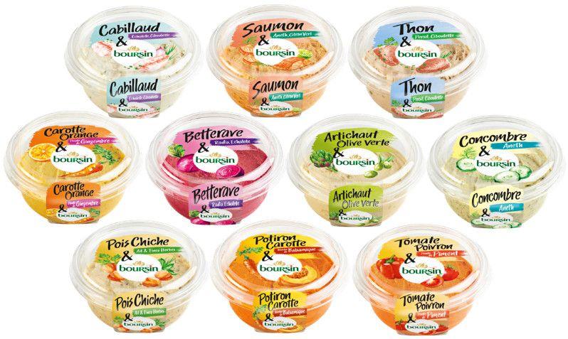 Lot de 2 pots tartinables Boursin poisson ou légumes (via 1.89€ sur la carte fidélité + Shopmium)