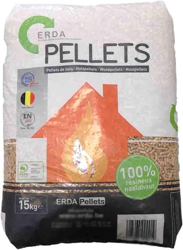 Palette de 65 sacs de 15 kg de Granulés de bois Premium DIN+/EN+ ERDA (soltech-nrj.com)