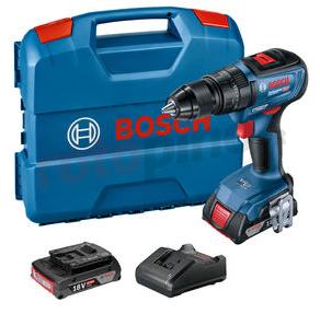 Perceuse-visseuse à percussion sans fil Bosch GSB 18V-50 + Batterie 2Ah + Chargeur + Coffret L-Case (rotopino.fr)