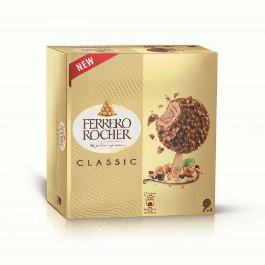 Lot de 4 glaces Ferrero rocher - différentes variétés, 200g (via 1.17€ fidélité)
