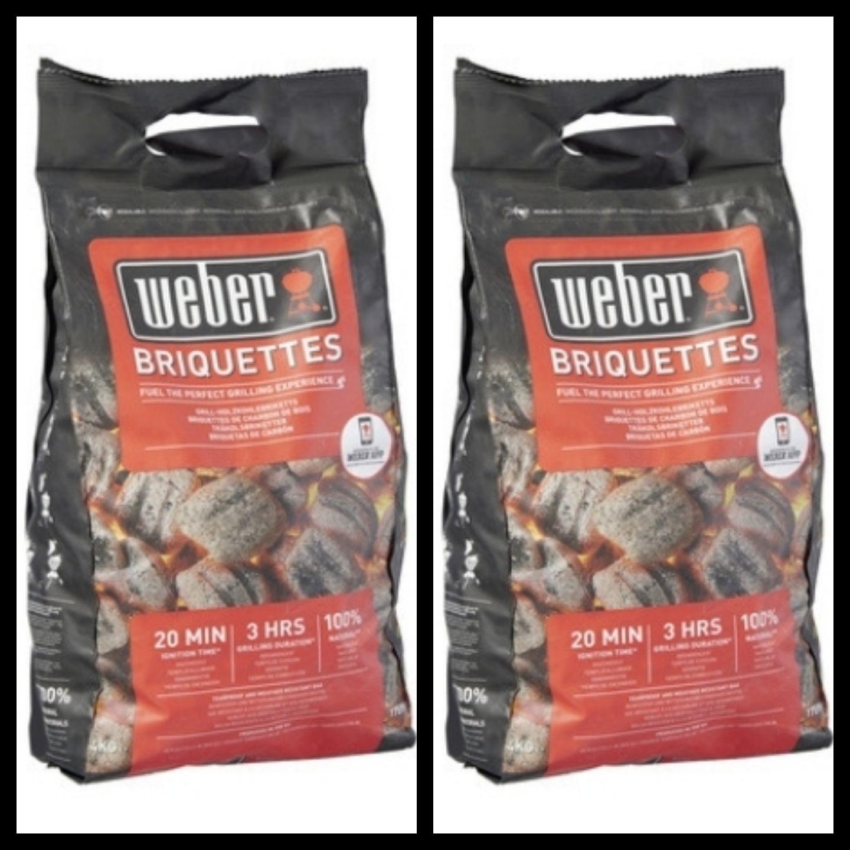 2 Sacs de briquettes Weber - 4kg