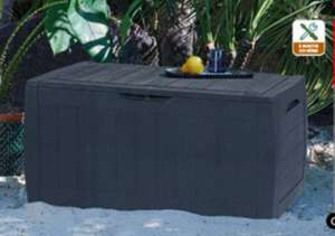 Coffre de rangement 270 litres Hollywood Keter - 117.5 cm x 45 cm x 57 cm