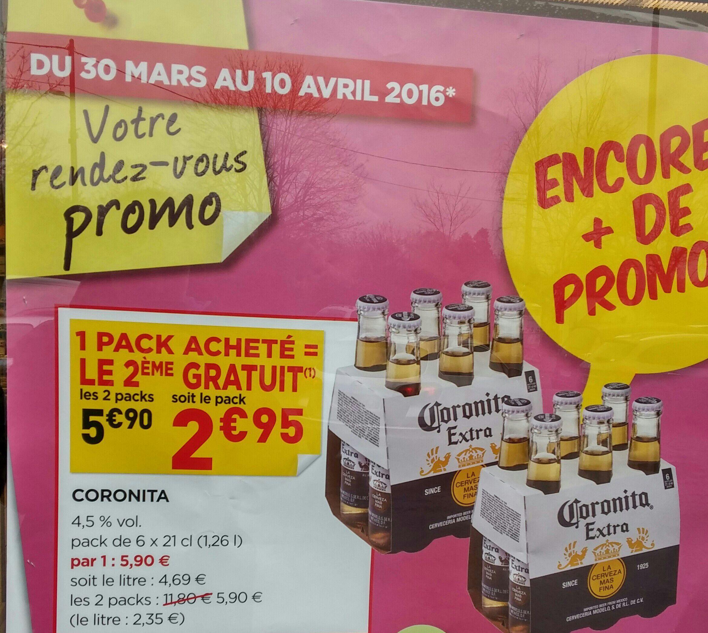 2 packs de 6 bières Coronita Extra (21 cl)