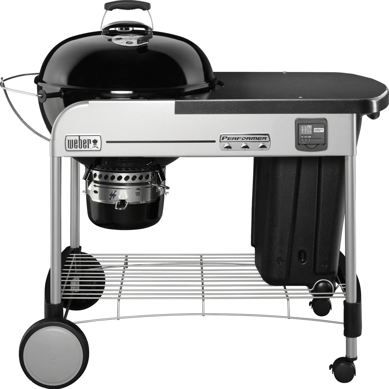 Barbecue à charbon Weber Performer Premium GBS (57 cm) + cheminée + brosse de nettoyage offertes - BabeeJardin.com