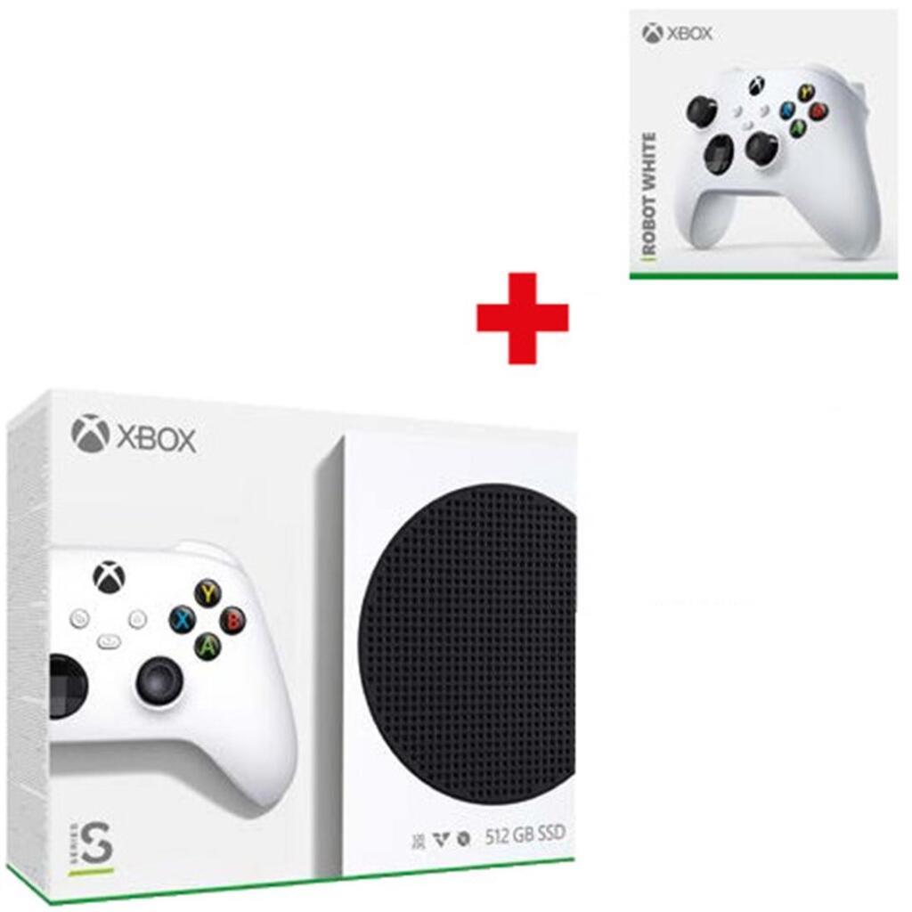 Pack Console Microsoft Xbox Serie S + 2ème manette (coloris au choix)