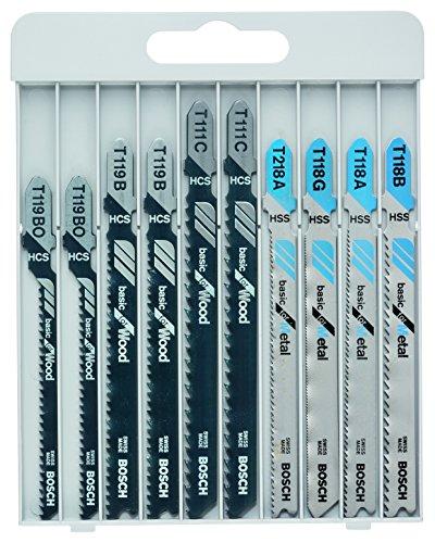 Assortiment de lames de scie sauteuse Bosch Professional (2607010630) - 10 pièces