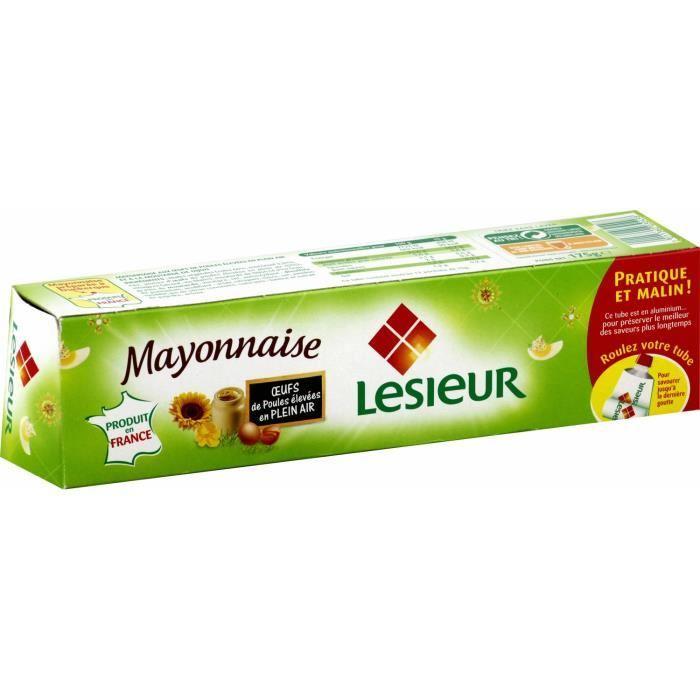 2 tubes de mayonnaise Lesieur - 175 g (via 0.98€ sur la carte de fidélité)