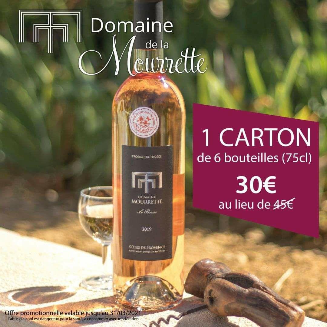 6 Bouteilles de Vin rosé du domaine de la Mourrette (75cl) - Six-Fours-les-Plages (83)