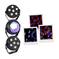 Pack 3 Spots LED à effets Party TriFX