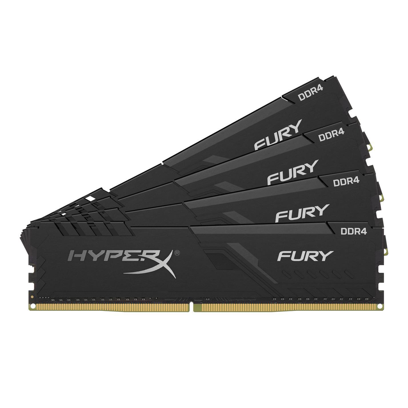 Kit mémoire RAM DDR4 HyperX Fury 64 Go - 3200MHz (yeppon.it)
