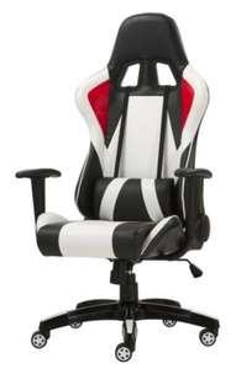 Fauteuil de bureau Flash - Noir, blanc et rouge