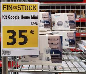 Kit domotique Advisen Google Home : Enceinte connectée Home Mini + Ampoule LED E27 + Prise connectée (Cambrai 59)