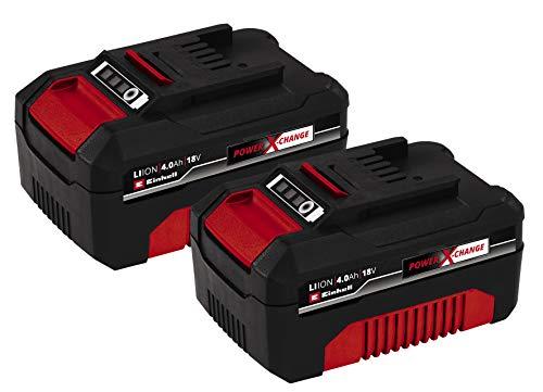 Lot de 2 batteries pour outillage électrique Einhell PXC-Twinpack (18 V) - 2x4.0 Ah