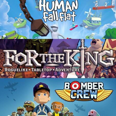Curve Bundle: Human Fall Flat + For The King + Bomber Crew sur PC (Dématérialisés - Steam)
