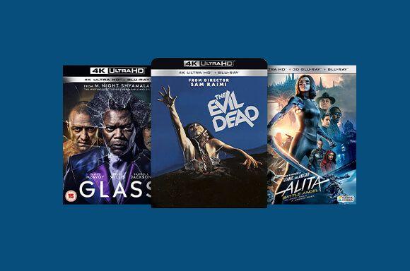 3 Blu-ray 4K UHD parmi une sélection pour 32€