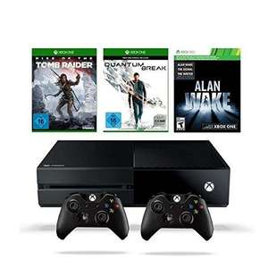 Console Microsoft Xbox One 500Go + Quantum Break + Rise of the Tomb Raider + Alan Wake (+ 2DLC) + 2ème Manette (Prise Jack)