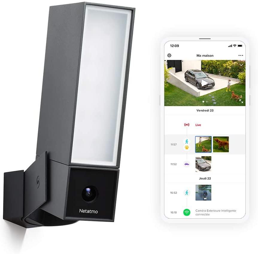 Caméra de surveillance Netatmo connectée extérieure avec éclairage