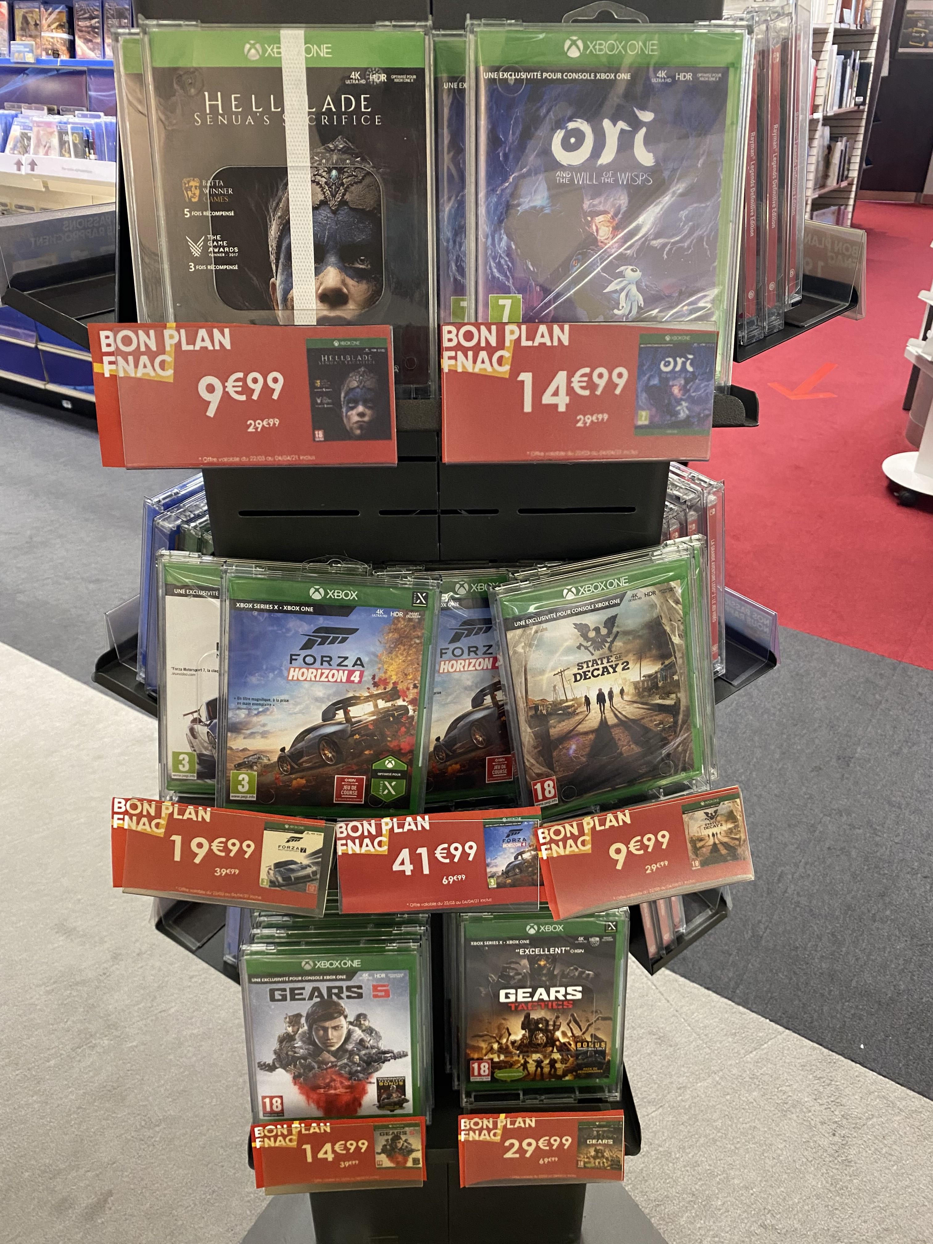 Sélection de jeux vidéo en promotion - Ex : Hellblade: Senua's Sacrifice ou State of Decay 2 sur Xbox One à 9.99€ - Poitiers (86)
