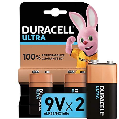 Lot de 2 piles alcalines Duracell Ultra 6LR61 - 9V