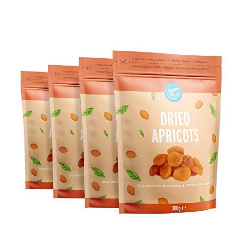 Lot de 4 sachets d'abricots secs Happy Belly - 4x300 g
