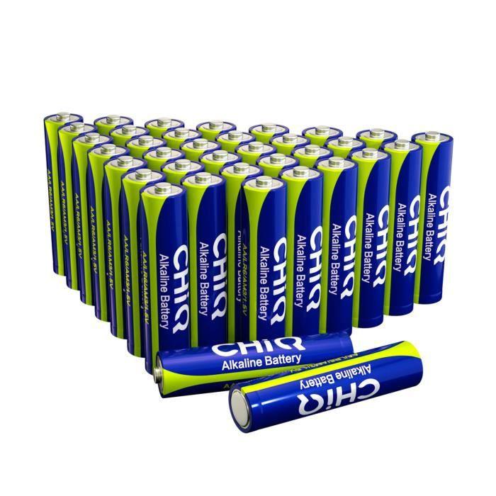 [Nouveaux clients] Lot de 36 piles alcalines AAA CHiQ 36ALR03 (Entrepôt France)
