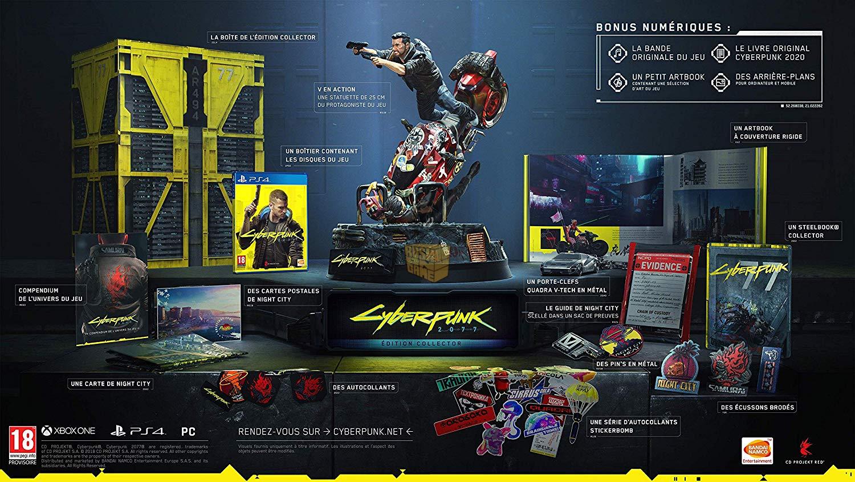 Jeu Cyberpunk 2077 sur PS4 - Edition Collector