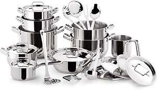 Batterie de cuisine tout inox 18/10 Lagostina 010740600024 - 24 pièces, Tous feux dont induction