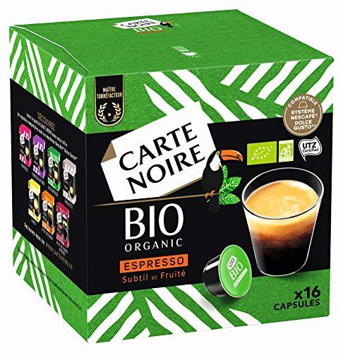 Lot de 6 boites de 16 capsules Carte Noire Bio compatible dolce gusto