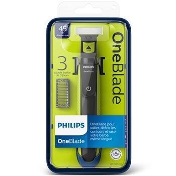 Rasoir électrique Philips OneBlade avec 3 sabots clipsables