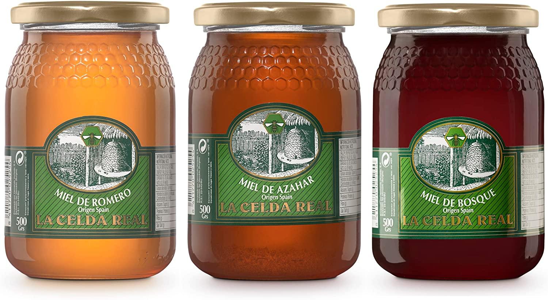 Lot de 3 pots de miel La Celda Real - 3 x 500 g