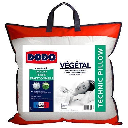 Oreiller ergonomique mémoire de forme Dodo végétal - 60 x 60 cm