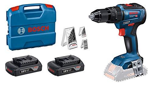 Perceuse-Visseuse à percussion Brushless Bosch GSB18V-55 18V + 2 batteries 1.5Ah + Lcase + Set d'accessoires (Frais d'importation inclus)