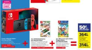 Console Nintendo Switch + jeu 51 Worldwide Games + Mario et Les Lapins Crétins Kingdom Battle