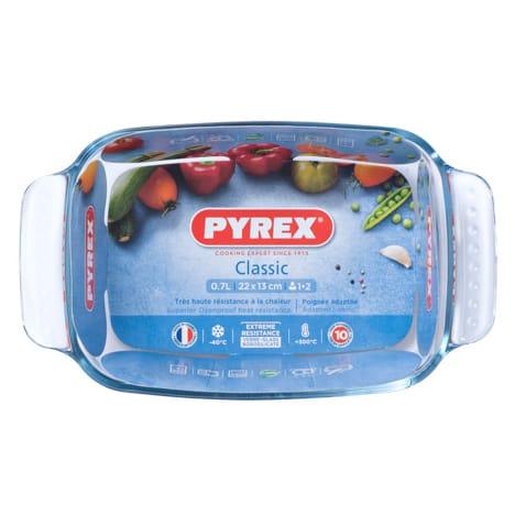 Plat à four rectangle Pyrex avec poignées - 22 x 13 cm