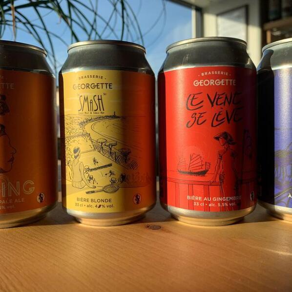 Sélection de packs de 24 canettes de bières Brasserie Georgette - 24x 33 cl (shop.brasseriegeorgette.com)