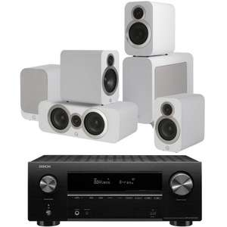 Home cinéma 5.1 Denon AVR-X2700 H + 2 x Q3010I + Q3060S + Q3090CI