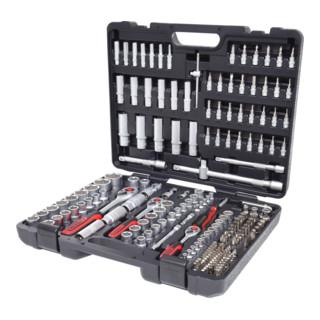 """Coffret à douilles KS Tools 1/4"""", 3/8"""", 1/2"""" - 195 pièces"""