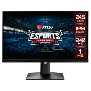 "Écran PC 24.5"" MSI Optix MAG251RX - full HD, LED IPS, 1 ms, 240 Hz, FreeSync / G-Sync compatible"