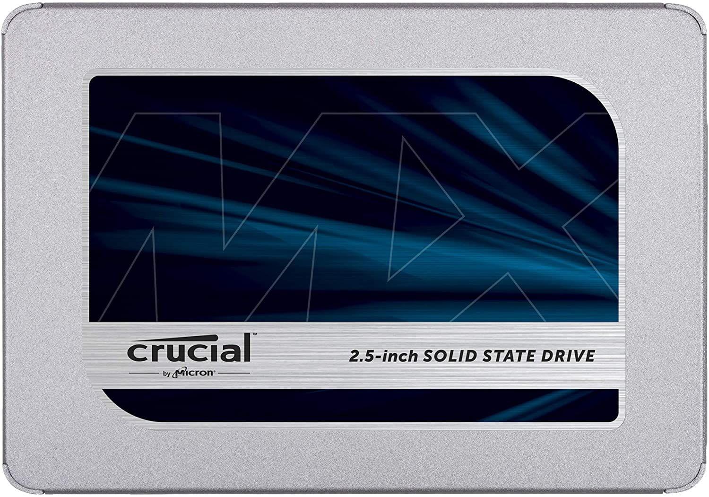 """SSD interne 2.5"""" Crucial MX500 - 500 Go (TLC-DRAM)"""