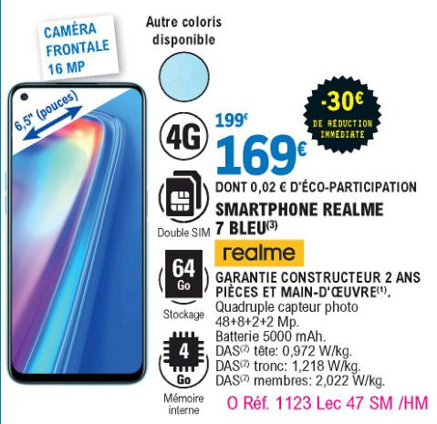 """Realme Smartphone 6.5"""" Realme 7 - 4 Go de RAM, 64 Go"""