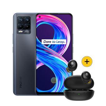 """[Précommande] Pack Smartphone 6.4"""" Realme 8 Pro (128 Go) + Écouteurs sans-fil Bluetooth Realme Buds Q (Noir)"""