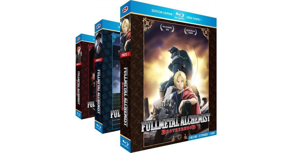 Pack 3 Coffrets Blu-ray + 3 Livrets Edition Saphir - Fullmetal Alchemist : Brotherhood (Intégrale + 4 OAV)