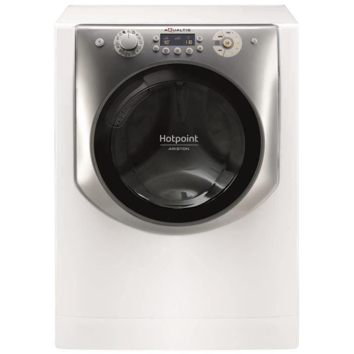 Lave-linge séchant HotPoint AQD972F697EUN Aqualtis - Lavage 9 kg (classe D) / séchage 7 kg (classe E), 1600 tours/min, Blanc