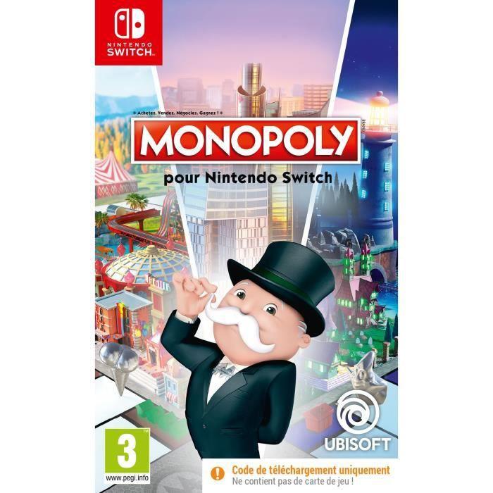 Monopoly sur Nintendo Switch (Version boîte avec code de téléchargement)