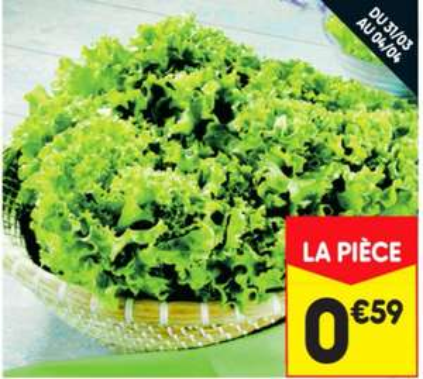 Salade Batavia - Catégorie 1, Origine France (l'unité)