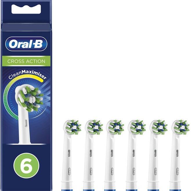 Sélection de brossettes Oral-B en promotion - Ex : Lot de 6 brossettes de rechange Oral-B Cross Action Clean max