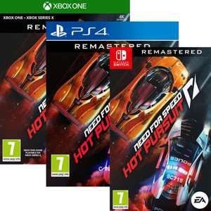 Need for Speed : Hot Pursuit Remastered sur Xbox One ou PS4 (19,99€)