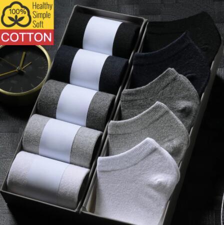 [Nouveaux clients] Lot de 10 paires de Chaussettes HSS - Noir, Gris, Blanc, Bleu Marine - 100% coton - (Taille 38-44)